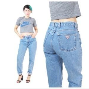 Guess Vintage Tapered Leg  Mom Jeans Size 28